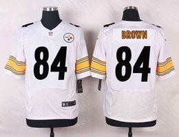 Wholesale Mens Soccer Rugby Jerseys Antonio Brown Elite White Football Jersey Accept Mixed Orders Best Quality Size M XXXL