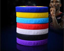 Wholesale Custom Rubber Bands Bracelets - Charm gel KOBE bracelet for women sports men, silicone wristbands, rubber band bracelets different colors,custom wristbands hot sale