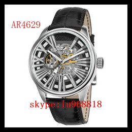 Wholesale TOP QUALITY BEST PRICE New Mens Leather Strap Meccanico Watch AR4629 AR Rose Gold Case Automatic Mechanical Wirstwatch