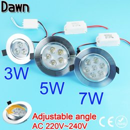 Wholesale Adjustable Angle LED Downlight w w w Led Lamp V Ceiling LED Down light Ceiling Indoor lighting Home Foyer Spot light