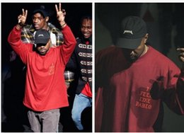 Hot Pre-Sale Hip Hop Mens T Shirt SEASON Streetwear Red Tee Long Sleeve O-neck T-Shirt Kanye West Letter Sportwear S-3XL Free shipping