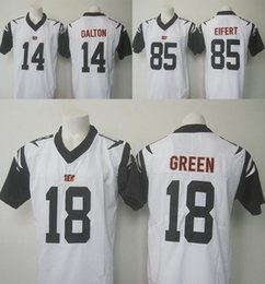 Wholesale 2016 Rush Limited Bengals Mens Jerseys Andy Dalton A J Green Tyler Eifert Stitched White Free Drop Shipping