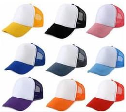 Wholesale Kids Trucker Cap Adult Mesh Caps Blank Trucker Hats Snapback Hats kid Size cm Adult Size cm Acept Custom Made Logo