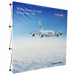 Wholesale Aluminum pop up stand pop up banner display x225cm x3 Fabric Backdrop Banner wall Graphic Printing