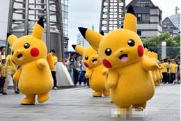 Wholesale-High material hot Pikachu mascot costume Pikachu adult size up free shipping