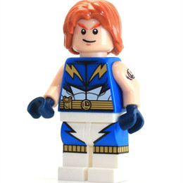 Wholesale Lightning Lad Target Promo SH211 DC Universe Justice League DIY Minifigures Assemble Model Building Blocks Kids Toys Gifts