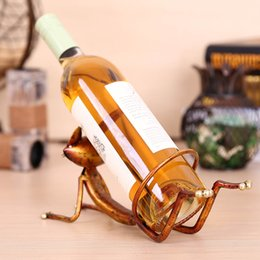 Wholesale TOOARTS Yoga cat Wine holder Wine shelf Metal sculpture Practical sculpture Home decoration Interior decoration Crafts A023