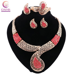 Boho crystal jewelry sets women Trendy necklace for party wedding with earrings2016 statement necklace Hot sale