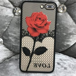 Luxury Rose Flower Case For iphone X 8 plus 7 Case For 6 6S Printing Cover Classic Phone Case Random Color