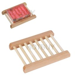 Natural Wood Soap Dish Wooden Soap Tray Holder Storage Soap Rack Plate Box Container for Bath Shower Plate Bathroom #4031
