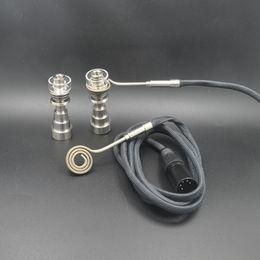 Wholesale Electric Dab Nail Heater Cord Heating Coil Upgrade Pin Quartz Heating coil Titanium Nail Carb Cap Glass Bong Water Piper