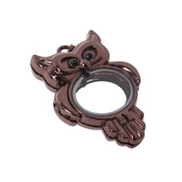 Wholesale 3pcs Fashion Owl Mirror mm Antique Charm Silver and Gold Plated Zinc Alloy Pendant Fit Jewelry Making