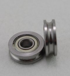 Wholesale 10pcs mm U604 Pulley Embedded Walking Guide Rail Groove U Type Bearings U604zz mm Hight Quality