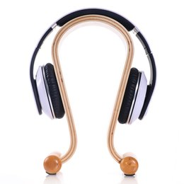 Original Samdi Wood Birch Headphone Stand Hanger Holder for Earphone Fashion Decorations for wearing Headset