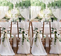 Wholesale 2016 New Designer Chair Sashes Wedding Accessory Cheap Wedding Supplies Wedding Decoration Ruffles Chiffon Chair Covers