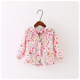 Wholesale Autumn Jackets For girls pig cartoon New Korean version Brand Fashion Polka Dot Bat shirt Coat Children Hoodies