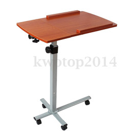Wholesale 2x x Angle Height Adjustable Rolling Cart Laptop Notebook Desk Hospital Table