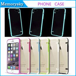 Cas transparents pour iphone 4s en Ligne-Case Noctilucence Transparent Thin souple Crystal Clear dur TPU couverture lumineuse pour l'iPhone 4 4S 5 5S 5C 6 / 6S 6Plus / 6SPlus