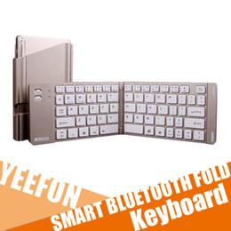 Clavier sans fil Clavier pliable Clavier Bluetooth intelligent Support Mulil Import Aviation Aluminium Smart Compatible Importez des chips Broadcom à partir de le soutien à l'importation fabricateur