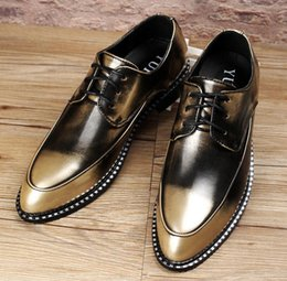 New Golden Restoring Patent Leather Shoes Mens Genuine Leather Loafers Pointed Toe Formal Men Business Dress Flats Doug Shoes