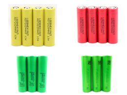 Wholesale 100 Authentic Battery Samsung R LG HE4 HE2 Sony VTC4 Flat Top Lithium High Drain Batteries Fitting Smok Alien Kit Kanger Juppi