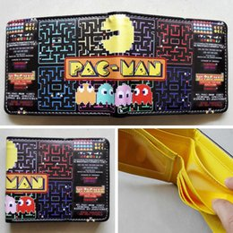 GAMES PACMAN GAMES Logo wallets Purse Multi-Color 12cm Leather New Hot W209