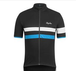 Wholesale The Rapha Cycling Jerseys Sets Cool Bike Suit Bike Jersey Anti UV Cycling Short Sleeves Shirt Bib Shorts Mens Cycling Clothing Size S XL
