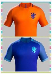Wholesale New Product Holland Netherlands V PERSIE Robben VAN DER VAART Gullit DEPAY Orange Blue Soccer Jersey Full Shirt