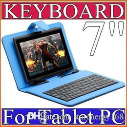 40X OEM Leather Case with Micro USB Interface Keyboard for 7 inch MID Tablet PC E-JP