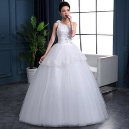 Wholesale The New Spring And Summer Fashion Slim Shoulder Nylon Wedding Dress Size Qi Thin Tail Wedding XS S M L XL B