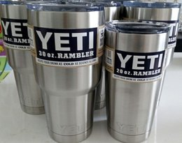 Wholesale 2016 YETI yeti oz Cup Cooler Rambler Tumbler Epacket Free YETI Mug Tumblerful Bilayer Vacuum Insulated Stainless Steel