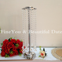 Express free shipping 55cm 21.6inch quality glass crystal metal wedding decoration table centerpieces