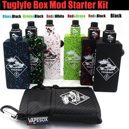Wholesale Top quality Tug boat Box Mod Start Kit Tuglyfe Unregulated Tugboat Aluminum Body RDA Atomizer vapor Mods vape pen e cig cigarettes kits DHL