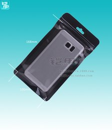 Wholesale Blank Zipper Lock Customize Plastic Package Black Bags Without Printing For iPhone 4 5 6S 6Splus Samsung S6 S7 S7edge