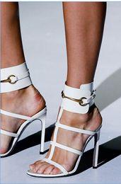2016 New Fashion European Style High Stiletto Heel Shoe Ankle-wrap Women Sandals High Quality Reasonable Price Charming Shoe US Size 4-14