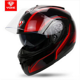YOHE double lenses undrape face motorcycle helmet winter open face motorbike helmets electric bicycle helmet YH-955 mode of ABS