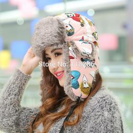 Descuento sombreros trampero Venta al por mayor de alta calidad de poliéster y algodón impreso Trapper Sombreros de piel sintética de Earflap aviador nieve camionero casquillo de la nieve del esquí del invierno bombardero ruso sombrero