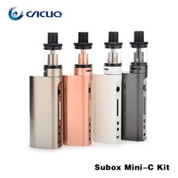 100% Original Kangertech Subox Mini-C Starter Kits 50W Subox Mini C 18650 Box Mod 3ml Top Filling Leak Free Tank