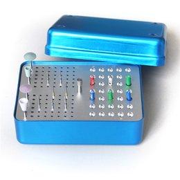 Wholesale Aluminium Alloy Dental Burs Disinfection Box High and Low Speed Diamond Burs Sterilizing Box for Dental Files JS01017