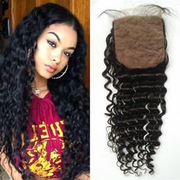Brazilian Deep Wave Silk Base Closure Virgin Curly Human Hair Closure 8-20inch G-EASY Hair