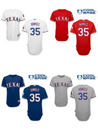 Wholesale Double Stitched Cole Hamels Texas Rangers Baseball Jerseys Blue Red White New Cheap Top Quality From China