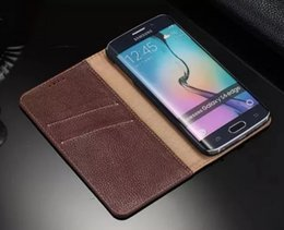 Excellence Aristocratic For Samsung S6 Edge Case Flip Purse Genuine Wallet Luxury Leather Case for Samsung Galaxy S6 Edge G9250