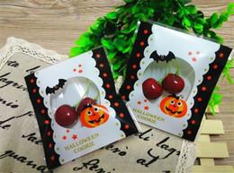 Promotion sac de rangement clair Halloween Pumpkin Bat Packaging Bag autocollantes Bonbons Cadeaux Sacs Pumpkin Party design Cookie Biscuits Snack Effacer Opp Sac Paquet Emballage