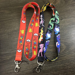 Wholesale 8 Poke go Pocket Monster Cell Phone Straps Mobile Phone Lanyard Keychain Gifts new Cartoon Action Pikachu Sylveon Jeni turtle Lanyard B