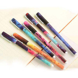 Free Shipping 12pcs 0.38mm Gel Pen School Office Home Supplies 6 Colors Fashion Gifts Prize Plastic Pens Papelaria