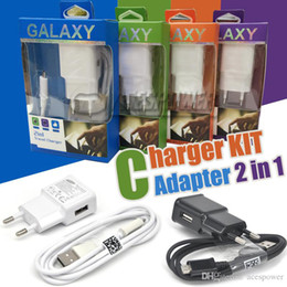 Wholesale Wall Charger Home Travel Adpater Micro USB Kits in US EU Version Plug USB Cable Car Charger For Galaxy S4 Retail Package