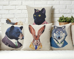 One-Eyed Tiger Black Rabbit Black Wolf Portrait High-Resolution Photography Pillow Massager Neck Euro Pillows Home Decor Gift