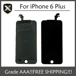 LCD Display For iPhone 6 Plus Touch Screen Digitizer Assembly With Frame Repair Replacement For iPhone 6 Plus LCD & Free Shipping