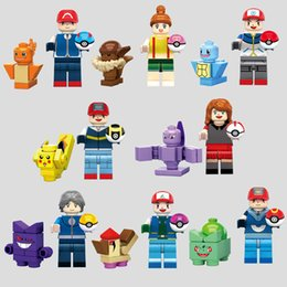 Wholesale 480pcs Minifigures Pikachu Squirtle Charmander Minifigures Children Bricks Building Blocks Collect Toys ghgh