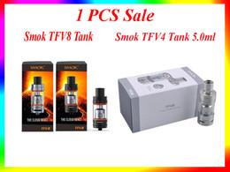 Wholesale 1pcs Sale Smok TFV8 Full Kit Smok TFV4 Single Kit Electronic Cigarette Sub Ohm Tank Fit Smok Xcube II